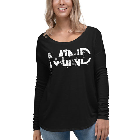 Mind Control - Womens Soft Flowy Long Sleeve Shirt