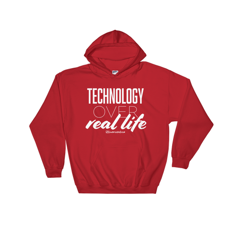 Technology Over Real Life - Soft Comfort Fit Adult Hoodie