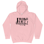 I Woke Up This Beautiful - Kids Soft Comfy Fit Hoodie