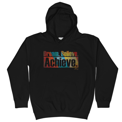 Dream. Believe. Achieve. - Kids Soft Comfy Fit Hoodie