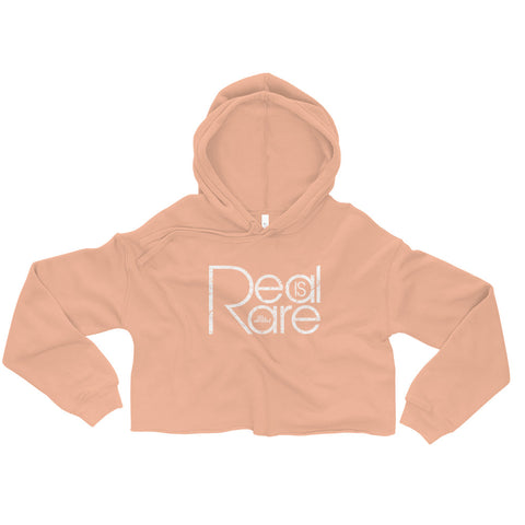 Real Is Rare - Womens Cropped Super Soft Hoodie