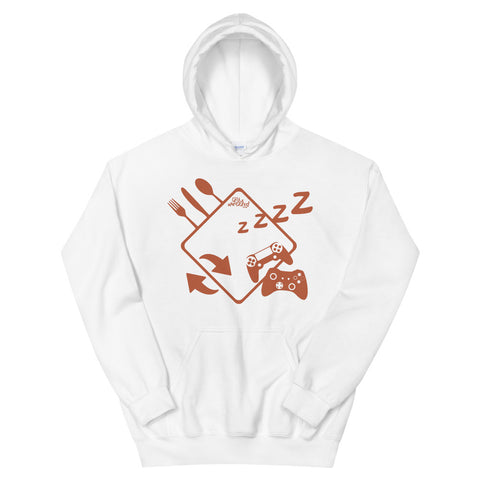 Eat Sleep Game Repeat - Adult Soft Comfort Fit Hoodie