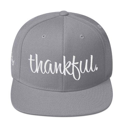 Thankful - Flat Bill Snapback Hat