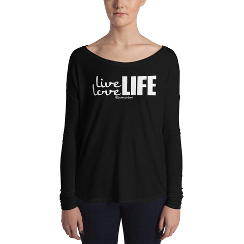 Live Love Life - Womens Soft Flowy Long Sleeve Shirt
