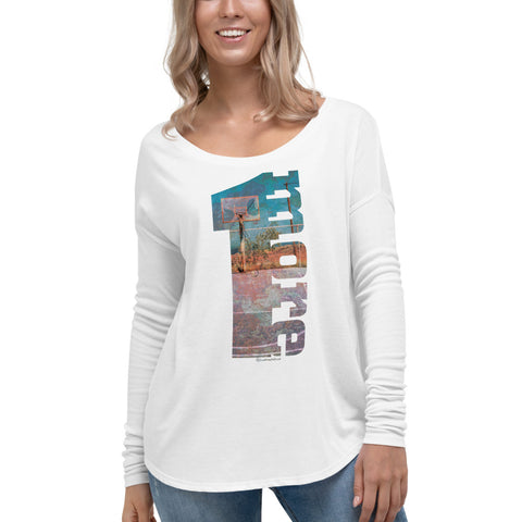 1 More (Basketball) - Womens Soft Flowy Long Sleeved Shirt