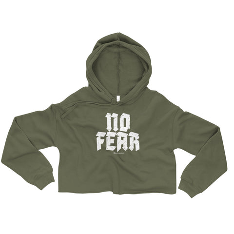 No Fear - Womens Cropped Super Soft Hoodie
