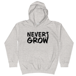 Never Grow Up - Kids Soft Comfy Fit Hoodie