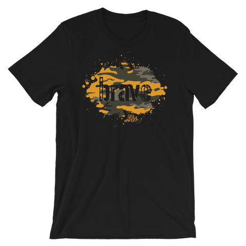 Brave Camo Yellow - Adult Favorite Fit T Shirt