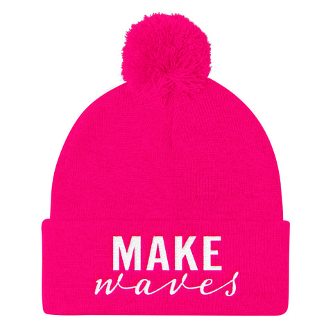 Make Waves - Pom Pom Knit Cap