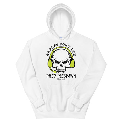 Gamers Don't Die They Respawn - Adult Soft Comfort Fit Hoodie