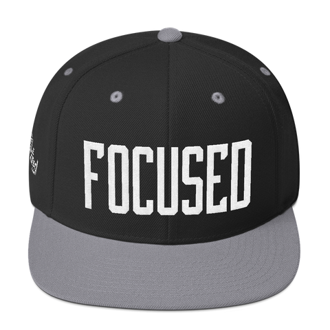 Focused - Flat Bill Snapback Hat