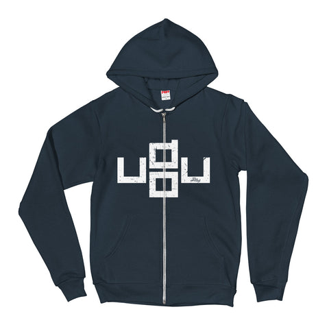 u do u - Adult Zip Up Hoodie Soft Warm