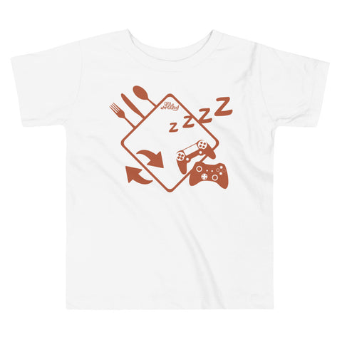 Eat Sleep Game Repeat - Comfy Toddler T Shirt