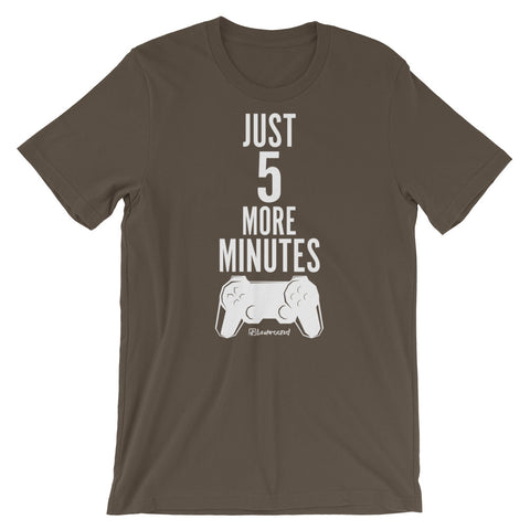 Just 5 More Minutes (Gamer) - Adult Favorite Fit T Shirt