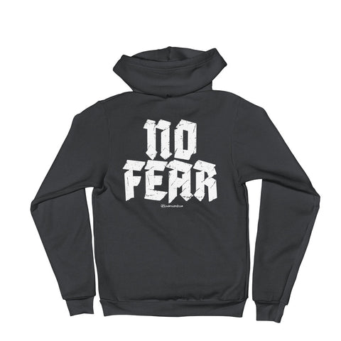 No Fear - Adult Zip Up Hoodie Soft Warm