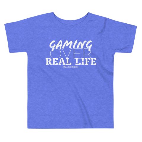 Gaming Over Real Life - Comfy Toddler T Shirt