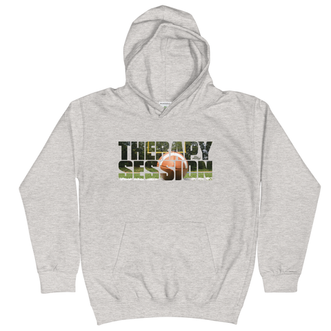 Therapy Session Football - Kids Soft Comfy Fit Hoodie
