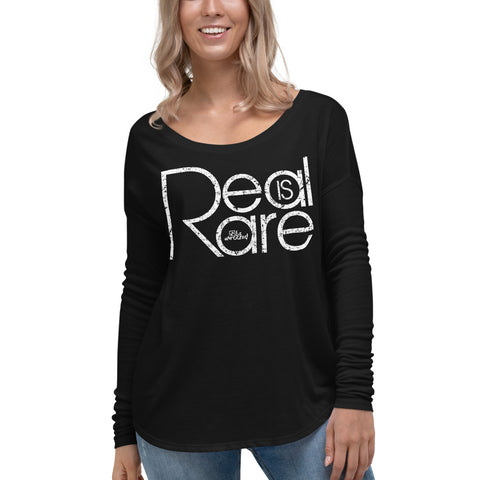 Real Is Rare - Womens Soft Flowy Long Sleeve Shirt