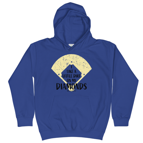 I Like A Little Dirt On My Diamonds - Kids Soft Comfy Fit Hoodie