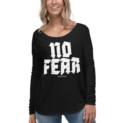 No Fear - Womens Soft Flowy Long Sleeve Shirt