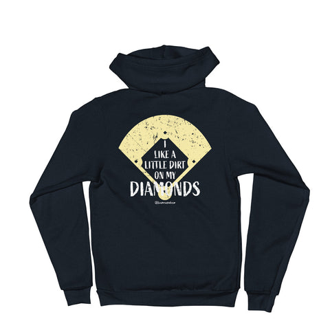 I Like A Little Dirt On My Diamonds - Zip Up Adult Hoodie Soft Warm
