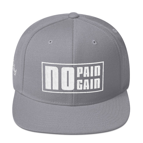 No Pain No Gain - Flat Bill Snapback Hat