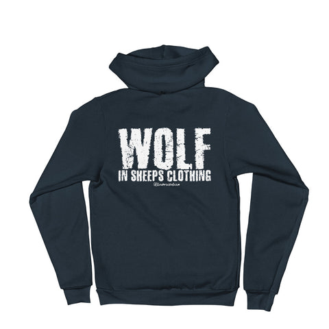 Wolf In Sheeps Clothing - Adult Zip Up Hoodie Soft Warm