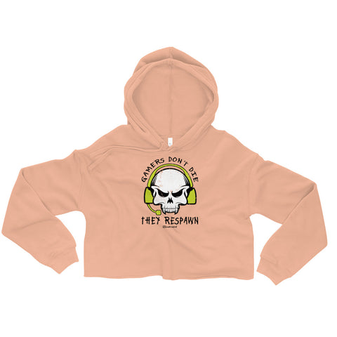 Gamers Don't Die They Respawn - Womens Cropped Super Soft Hoodie