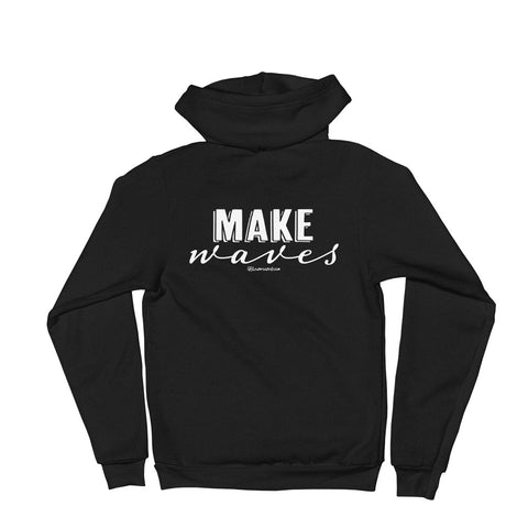 Make Waves - Adult Zip Up Hoodie Soft Warm