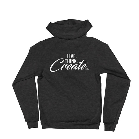 Live Think Create - Adult Zip Up Hoodie Soft Warm