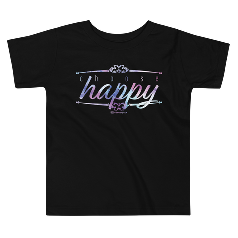 Choose Happy - Toddler Comfy T Shirt