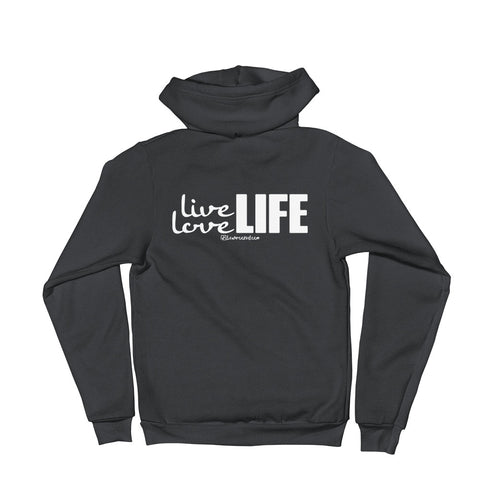 Live Love Life - Adult Zip Up Hoodie Soft Warm