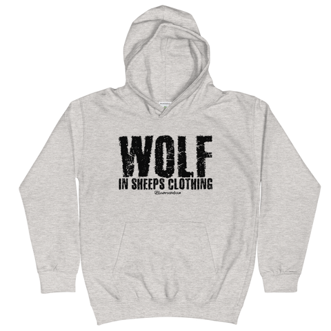 Wolf in Sheeps Clothing - Kids Soft Comfy Fit Hoodie
