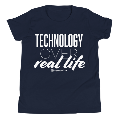Technology Over Real Life - Favorite Fit Kids T Shirt