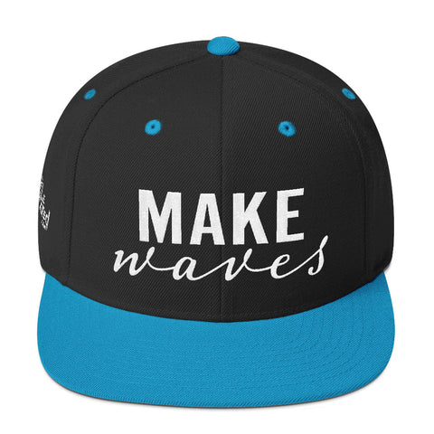 Make Waves - Flat Bill Snapback Hat