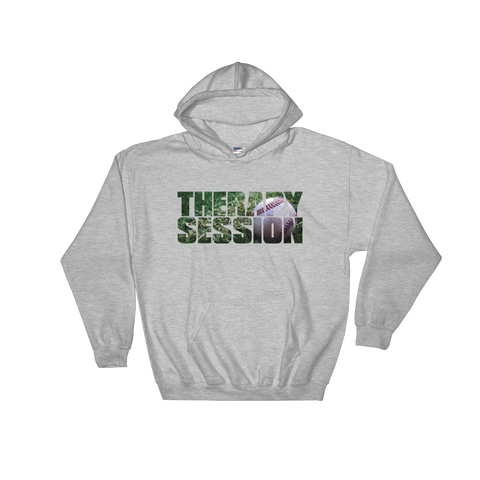 Therapy Session Baseball - Soft Comfort Fit Adult Hoodie