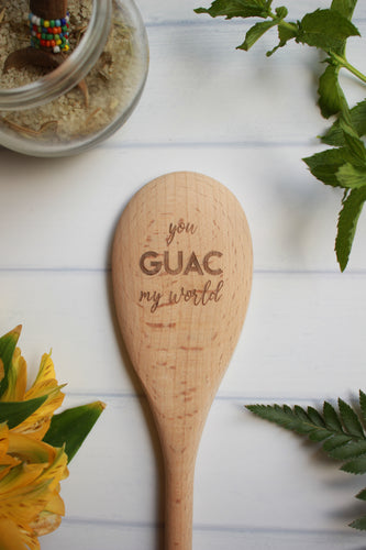 You Guac My World Wooden Engraved Spoon