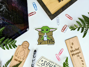 Baby Yoda - Sanitize You Must Sticker