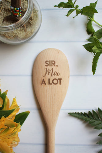 Sir Mix A Lot Wooden Engraved Spoon