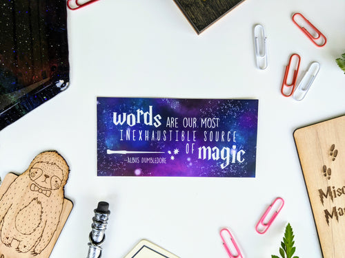 Words are Magic - Wizarding School Class Series Sticker