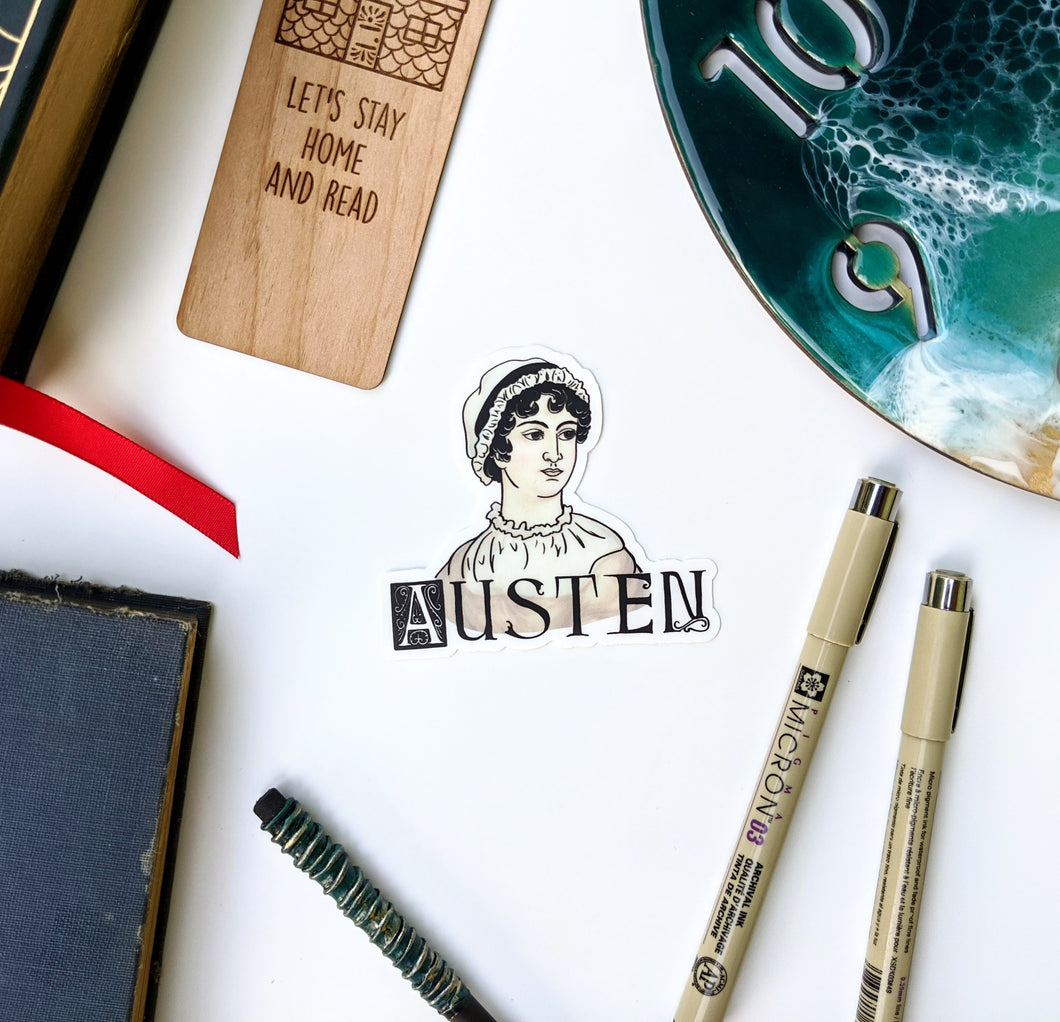 Literary Figures Collection- Jane Austen Sticker