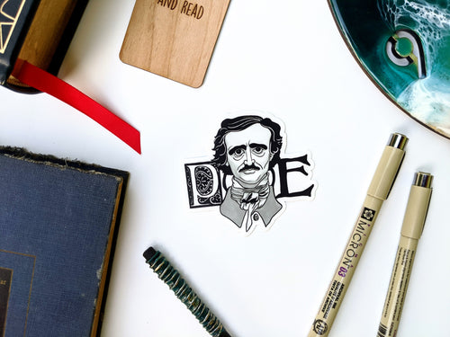 Literary Figures Collection- Edgar Allen Poe Sticker