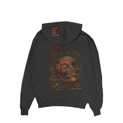 BEFORE LOVE CAME TO KILL US SKULL HOODIE