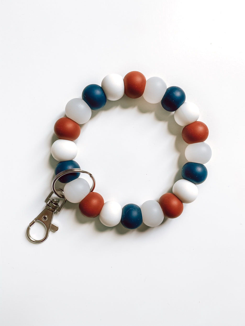 americana collection // bracelet keychain (white)