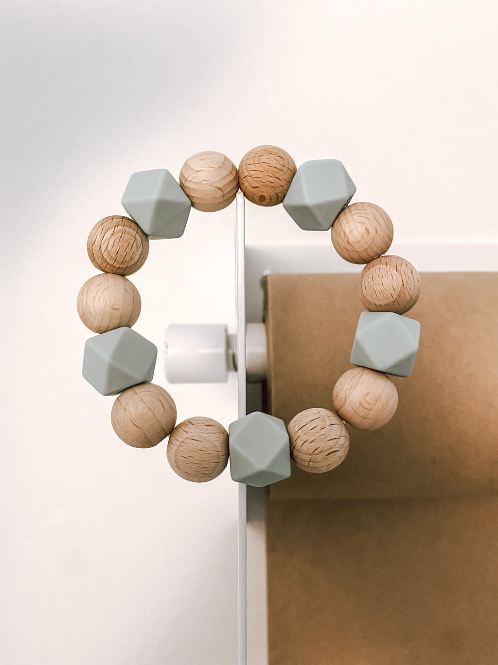 beech wood + your choice of mini silicone hexagons