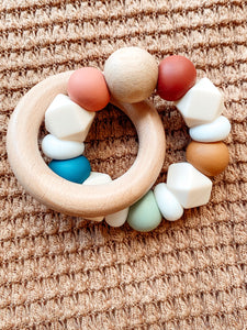 •NEW• muted rainbow // teether