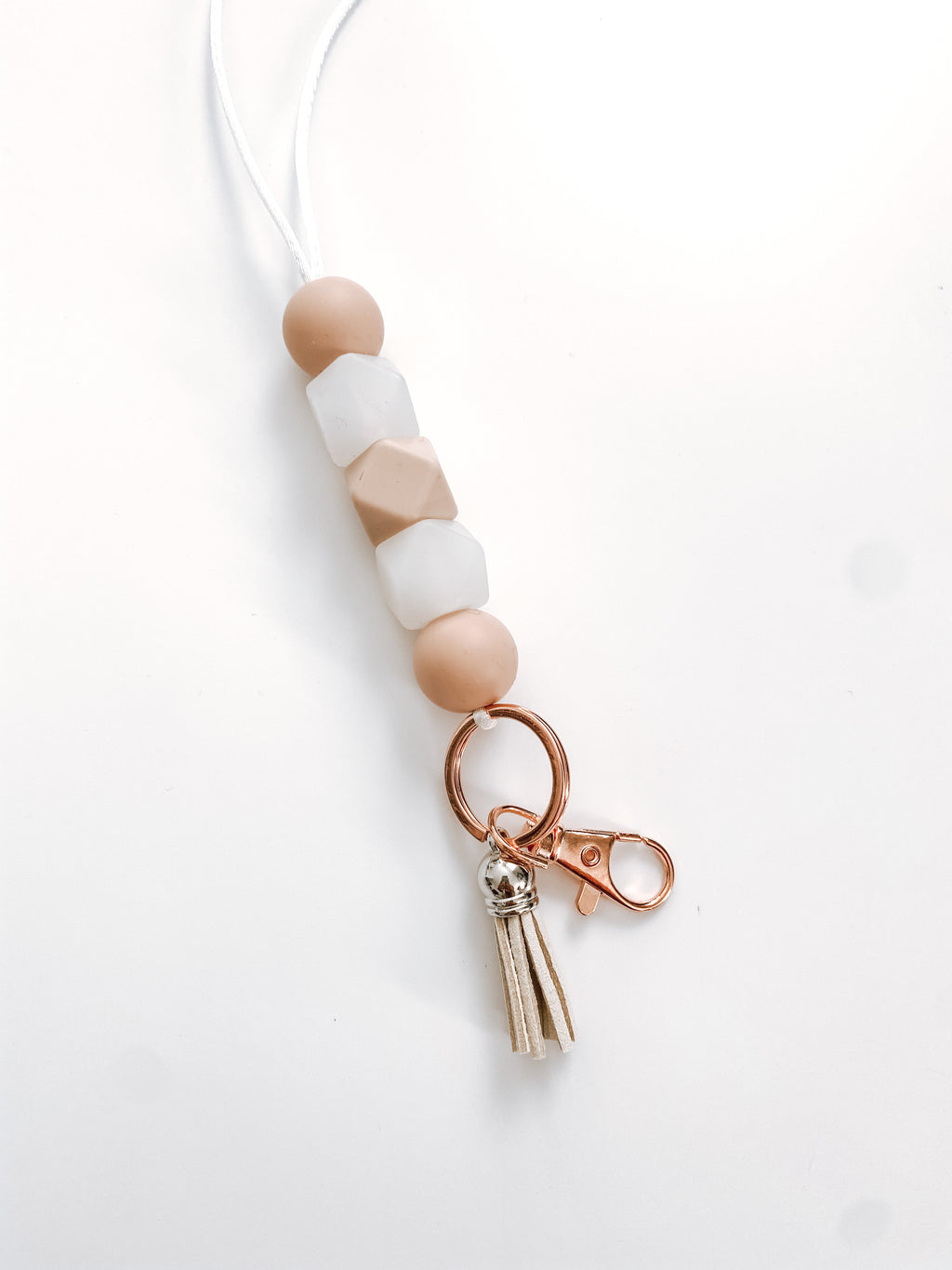 blush + clear with tassel // lanyard
