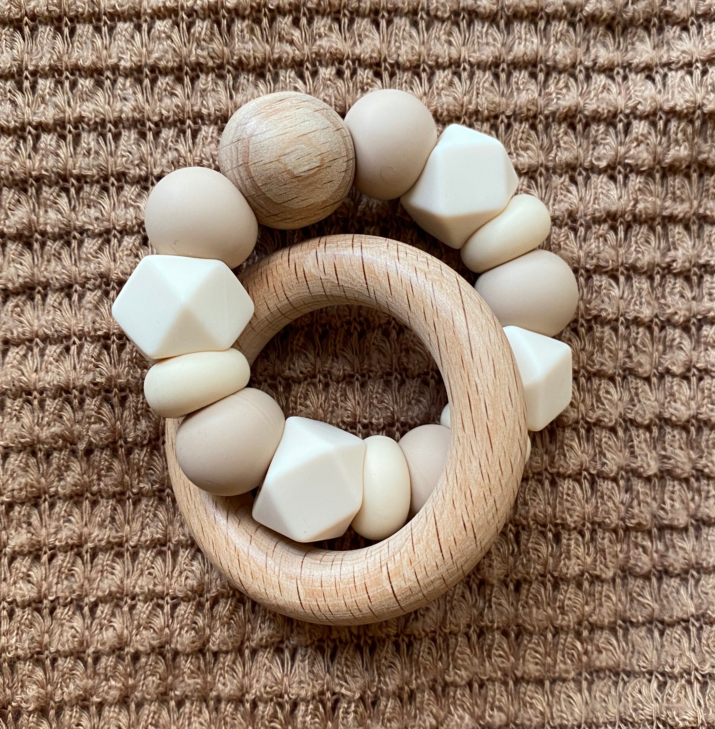 •NEW• ivory + oat neutral // teether
