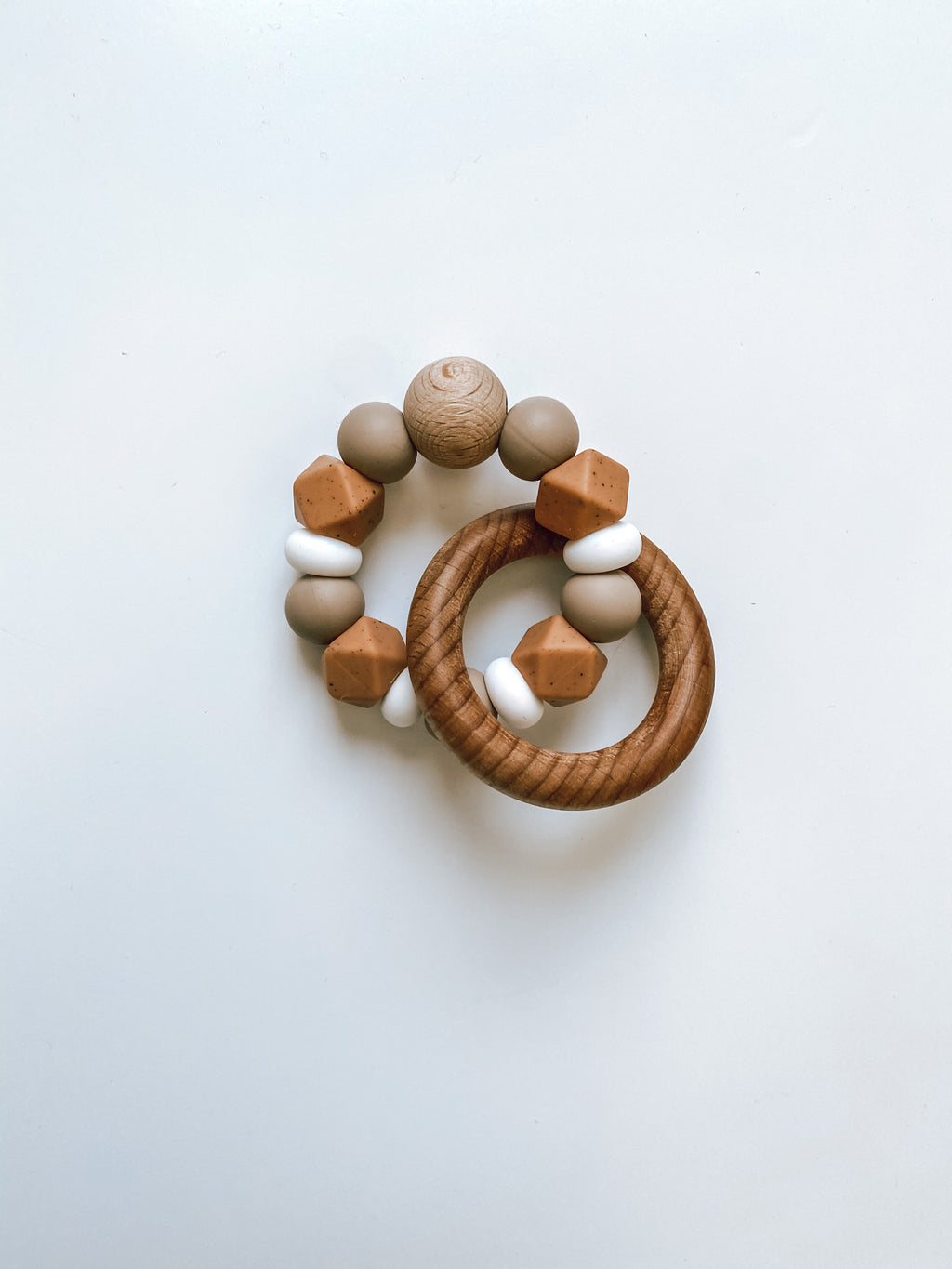 muted camel + mocha | teether