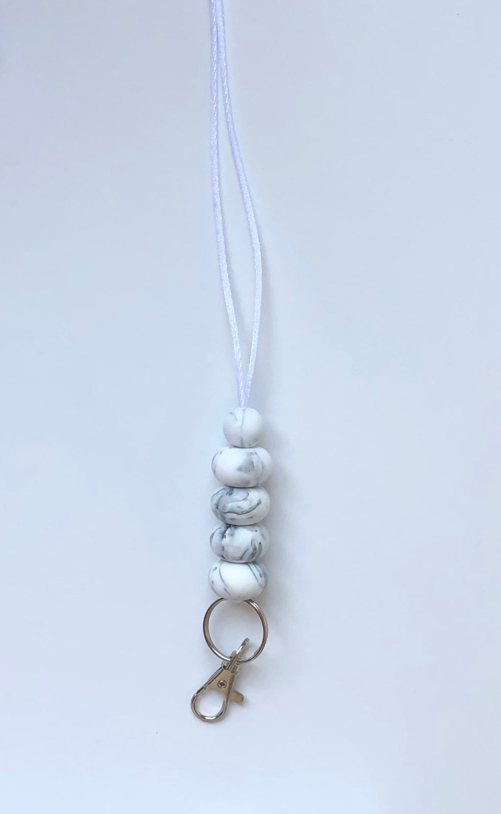 marble white lanyard | ready to ship